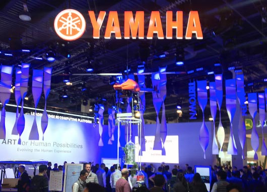Works YAMAHA Booth at CES_其田一真|広告ディレクター